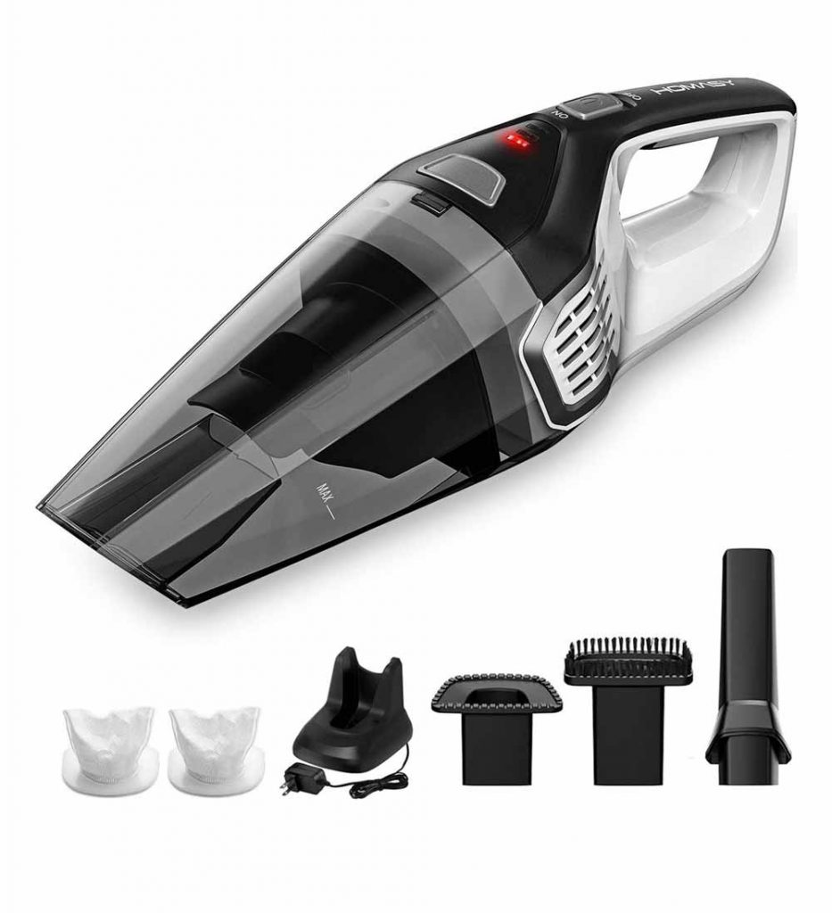 Homasy Portable Handheld Vacuum Cleaner Cordless Review