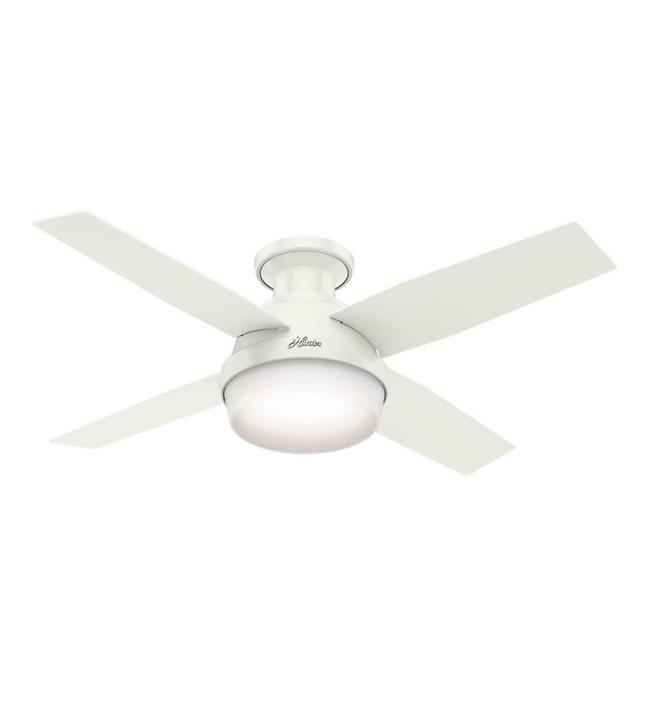 Hunter Dempsey Low Profile Fresh White ceiling fan review